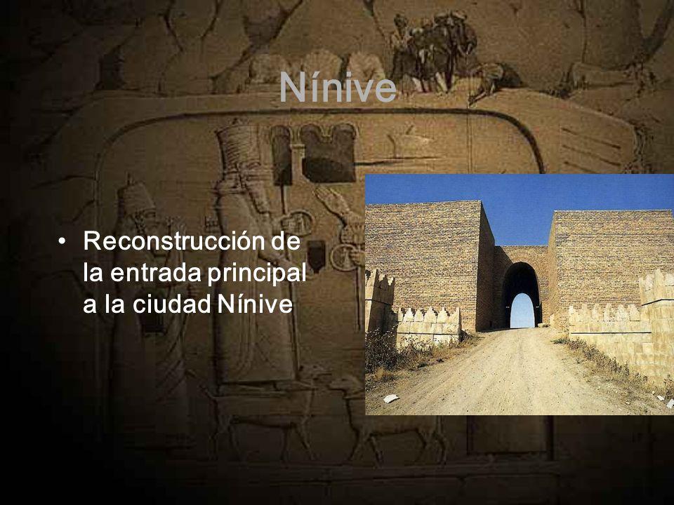 Nínive Reconstrucción de la entrada principal a la ciudad Nínive