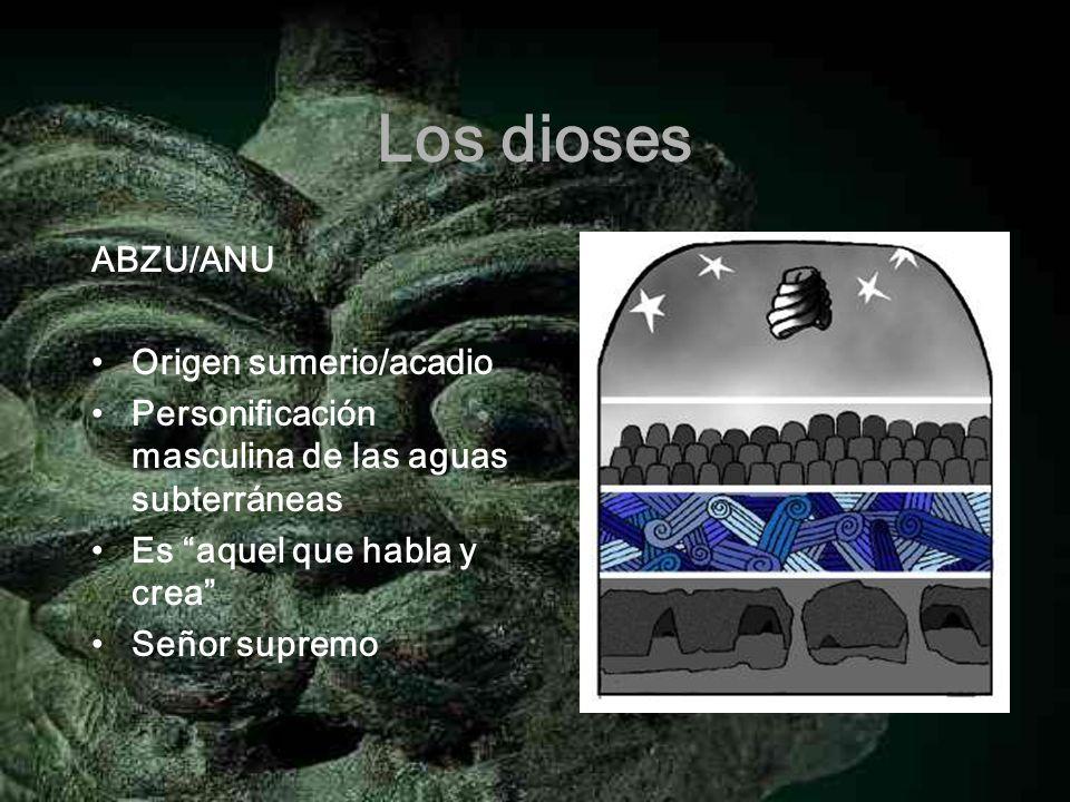 Los dioses ABZU/ANU Origen sumerio/acadio