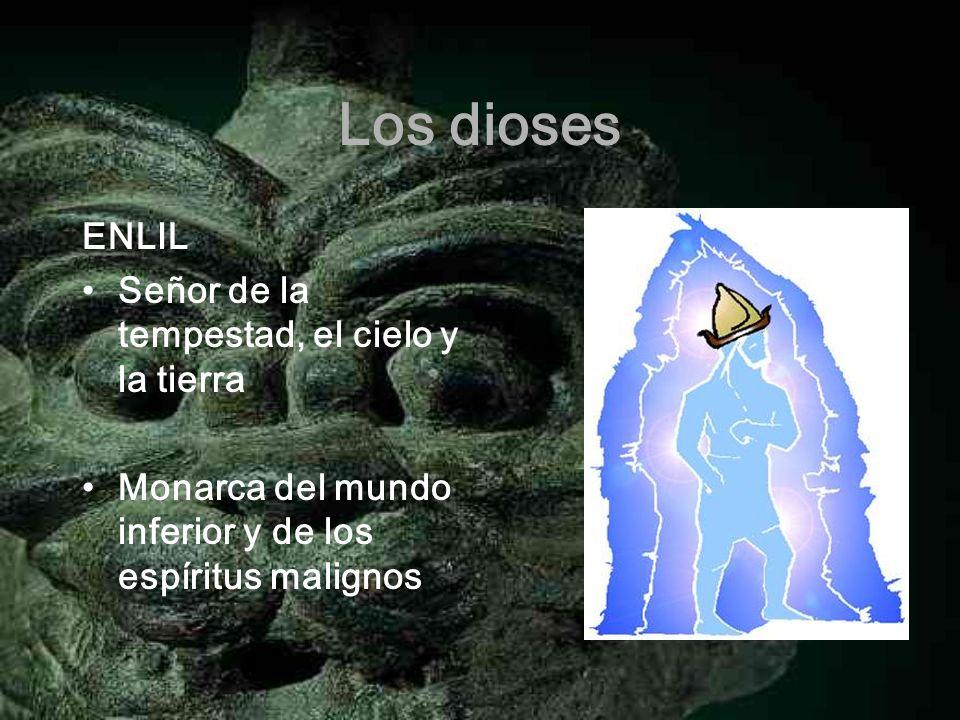 Los dioses ENLIL Señor de la tempestad, el cielo y la tierra