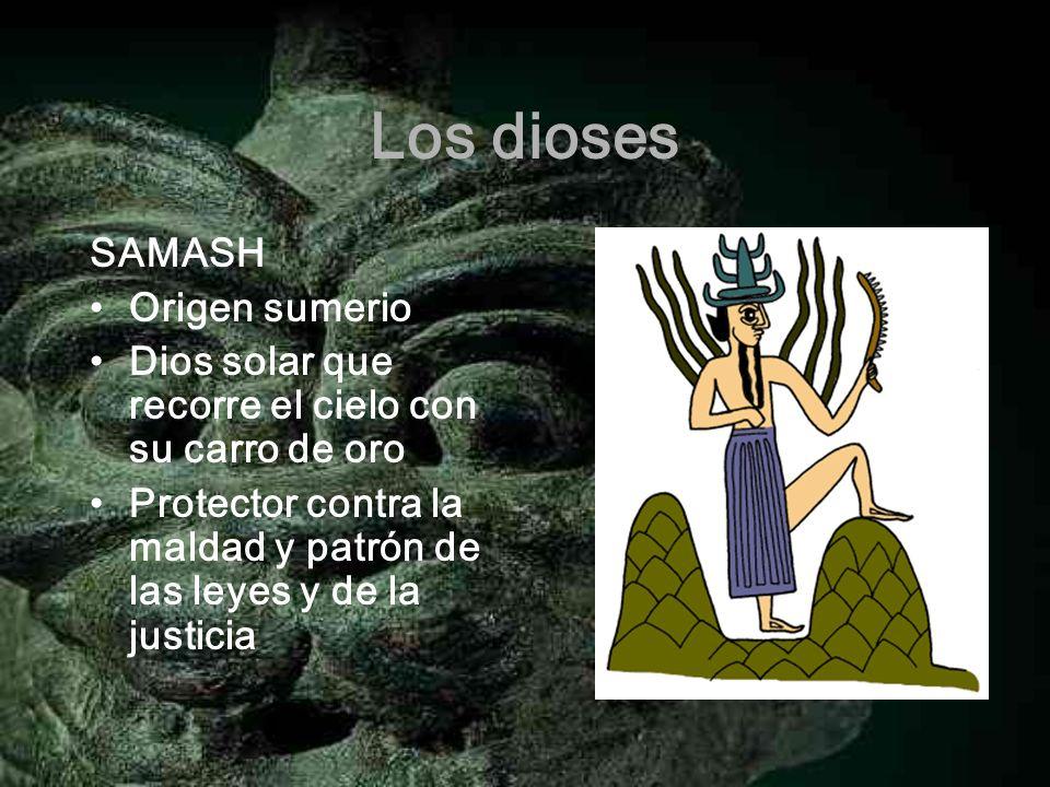 Los dioses SAMASH Origen sumerio