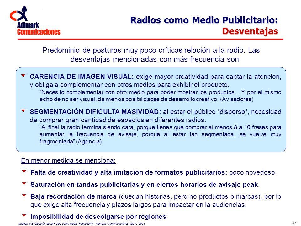 Radios como Medio Publicitario: Desventajas