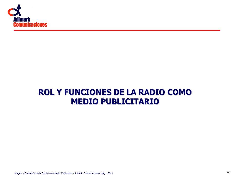 ROL Y FUNCIONES DE LA RADIO COMO