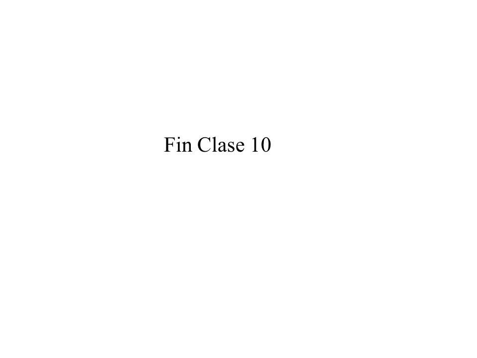 Fin Clase 10
