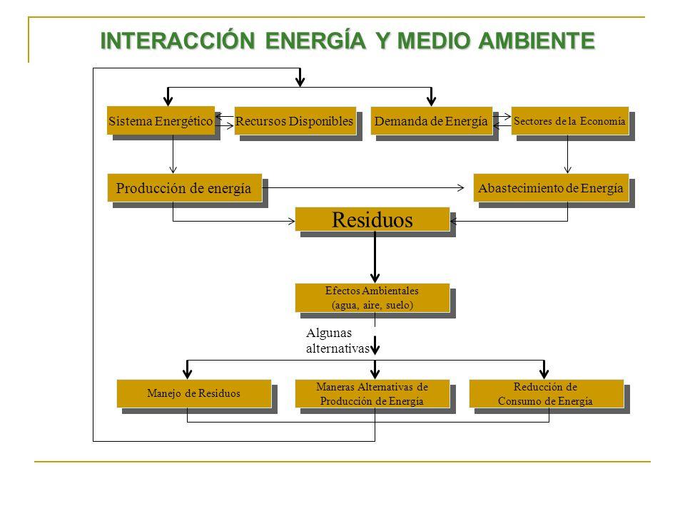 INTERACCIÓN ENERGÍA Y MEDIO AMBIENTE