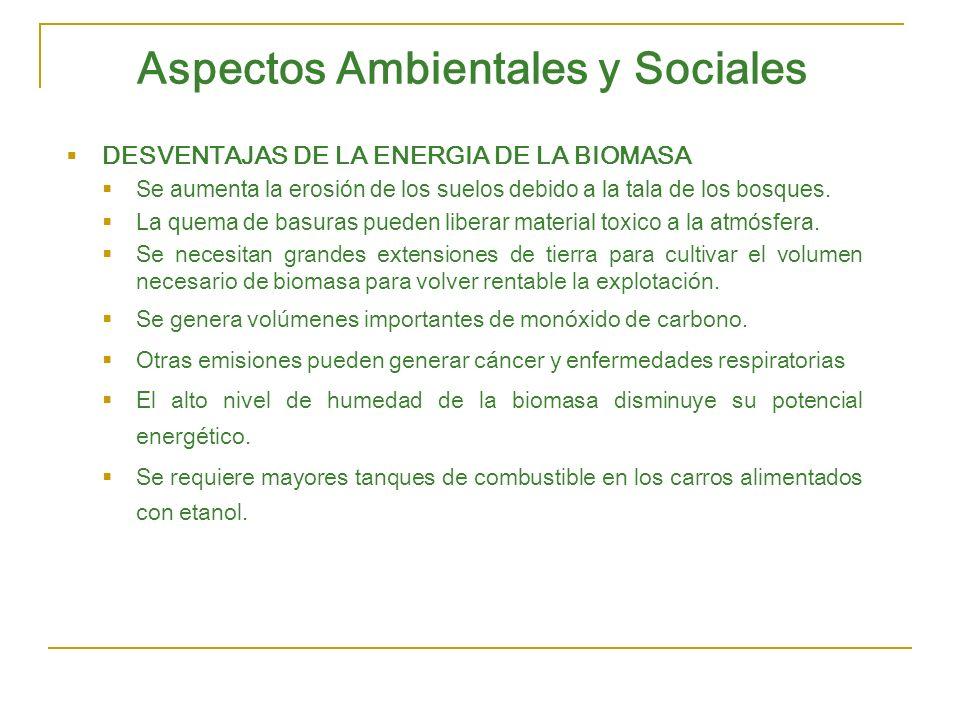 Aspectos Ambientales y Sociales