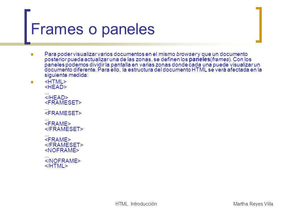 Frames o paneles