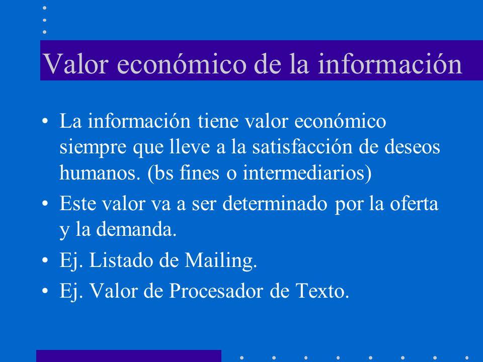 Valor económico de la información