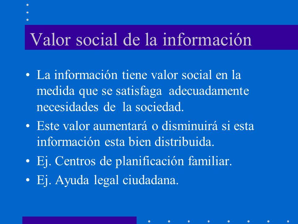 Valor social de la información