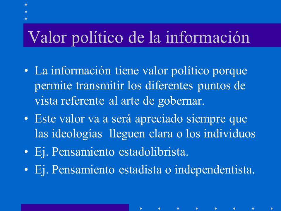 Valor político de la información