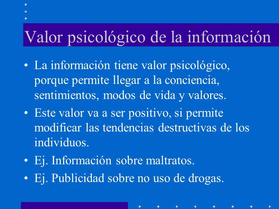Valor psicológico de la información