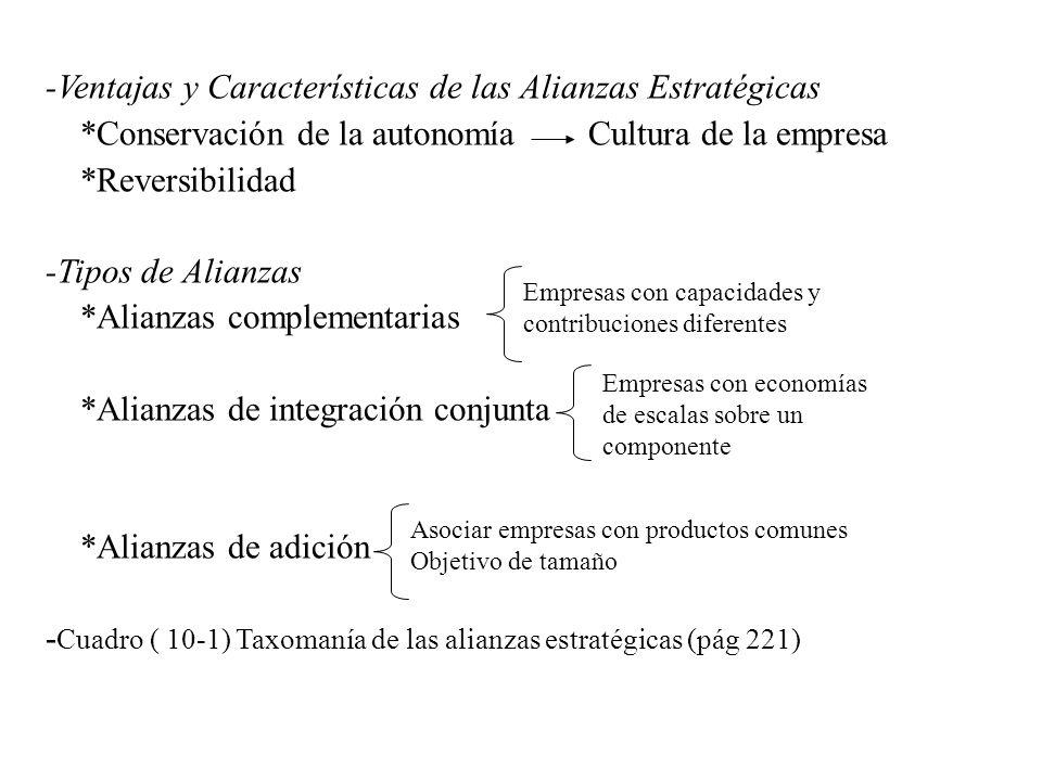 -Ventajas y Características de las Alianzas Estratégicas