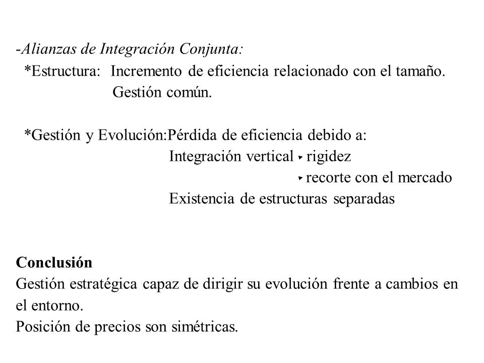-Alianzas de Integración Conjunta: