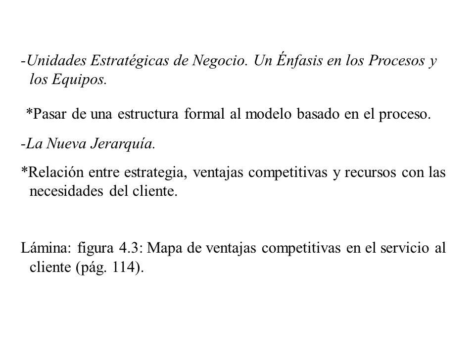 *Pasar de una estructura formal al modelo basado en el proceso.