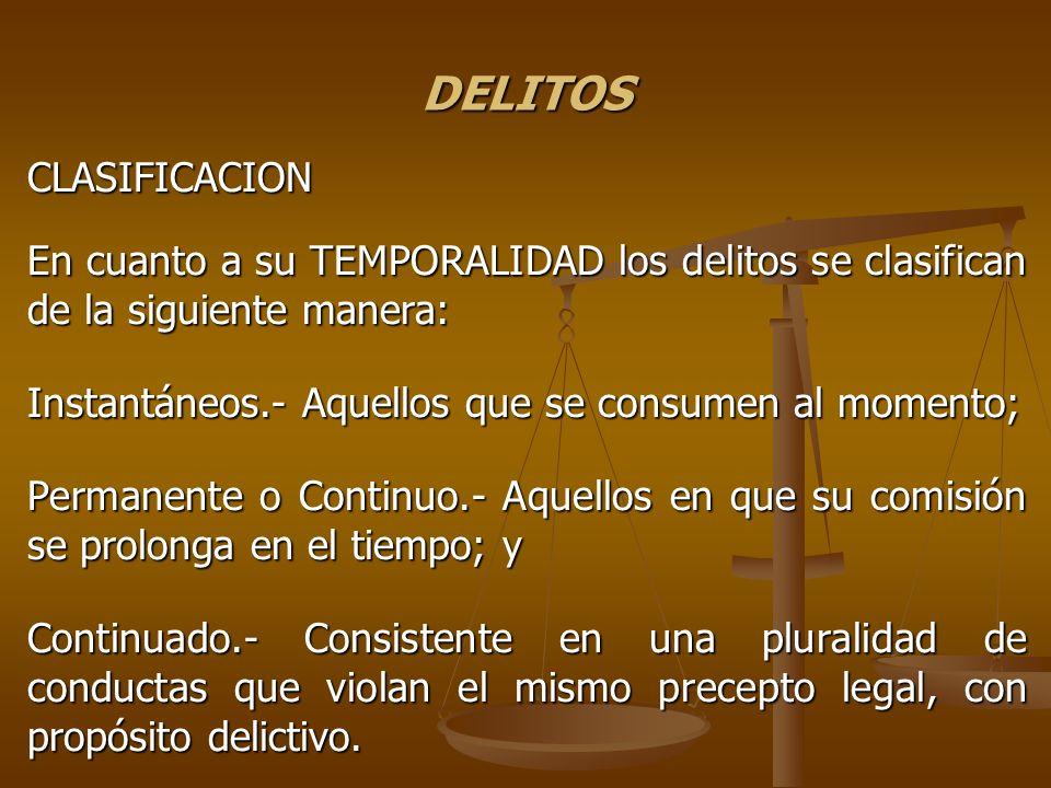 DELITOS CLASIFICACION