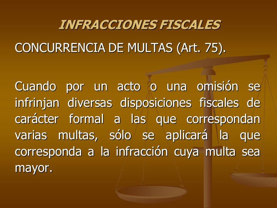 INFRACCIONES FISCALES