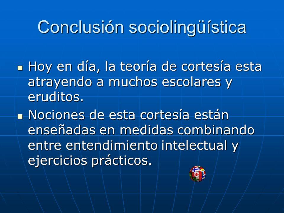 Conclusión sociolingüística