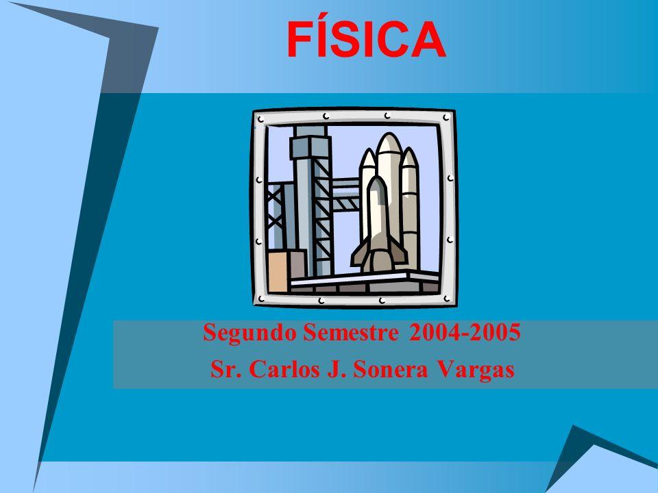 Segundo Semestre 2004-2005 Sr. Carlos J. Sonera Vargas