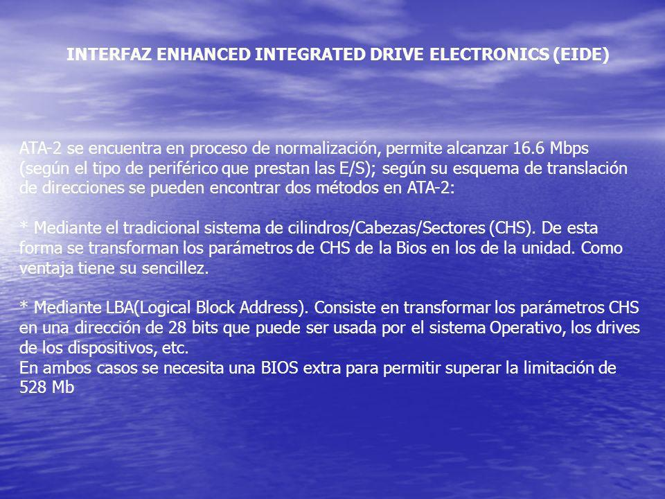 INTERFAZ ENHANCED INTEGRATED DRIVE ELECTRONICS (EIDE)