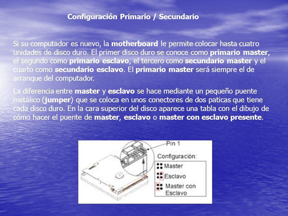 Configuración Primario / Secundario