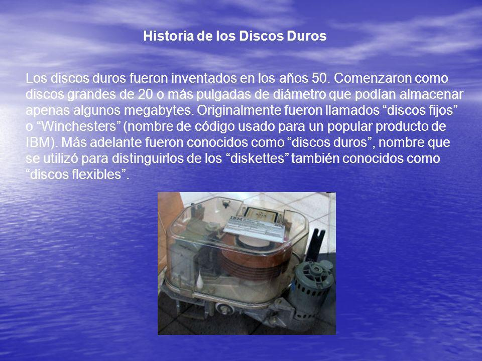 Historia de los Discos Duros
