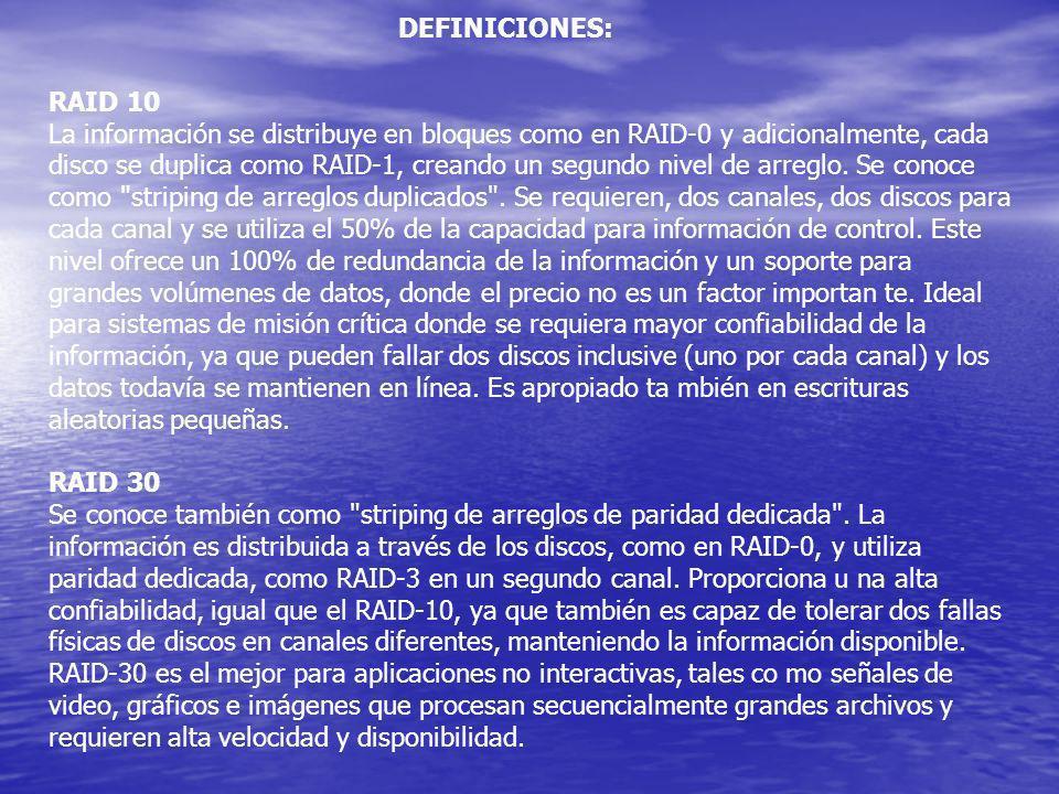 DEFINICIONES: RAID 10.