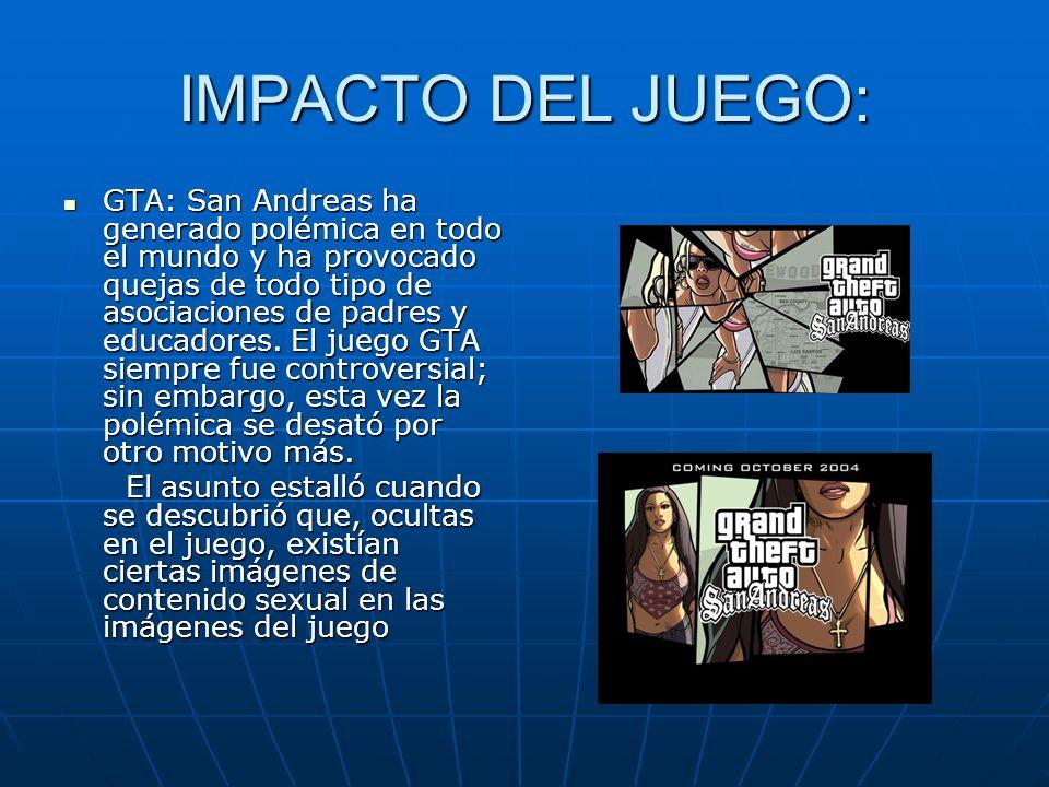 IMPACTO DEL JUEGO: