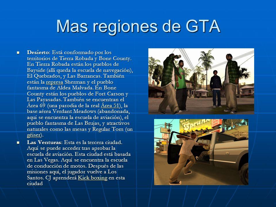 Mas regiones de GTA