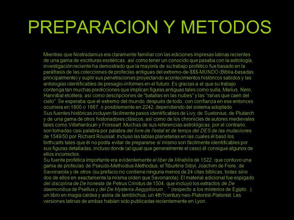 PREPARACION Y METODOS