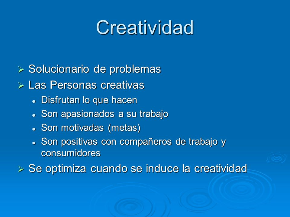 Creatividad Solucionario de problemas Las Personas creativas