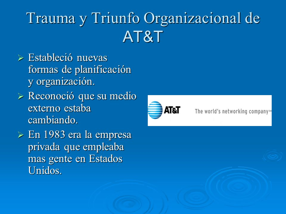 Trauma y Triunfo Organizacional de AT&T