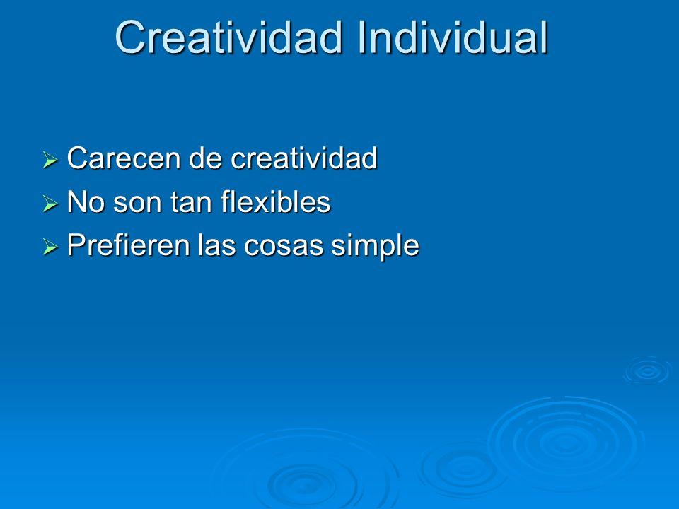 Creatividad Individual