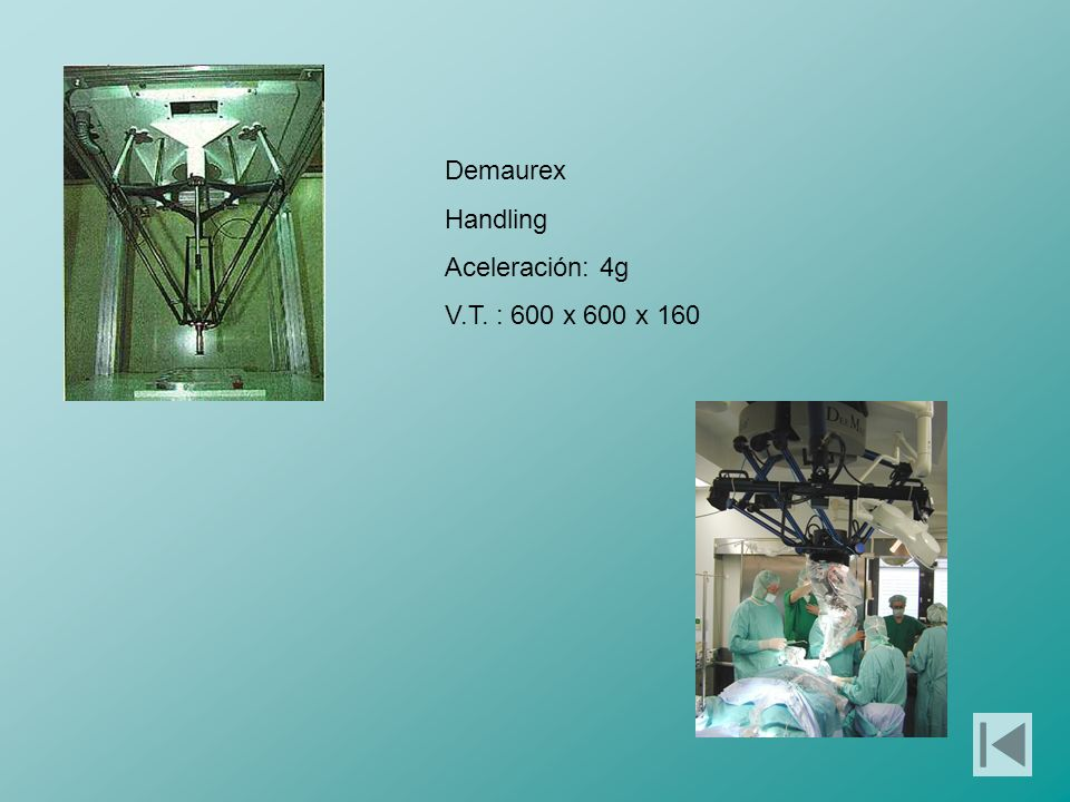 Demaurex Handling Aceleración: 4g V.T. : 600 x 600 x 160