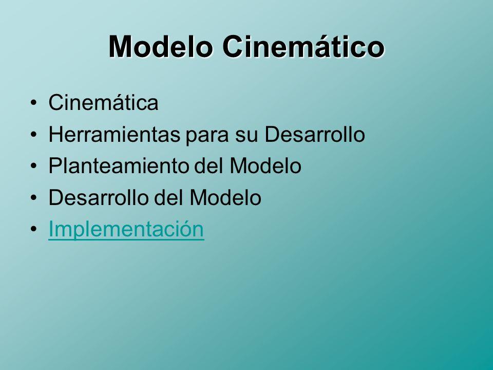 Modelo Cinemático Cinemática Herramientas para su Desarrollo