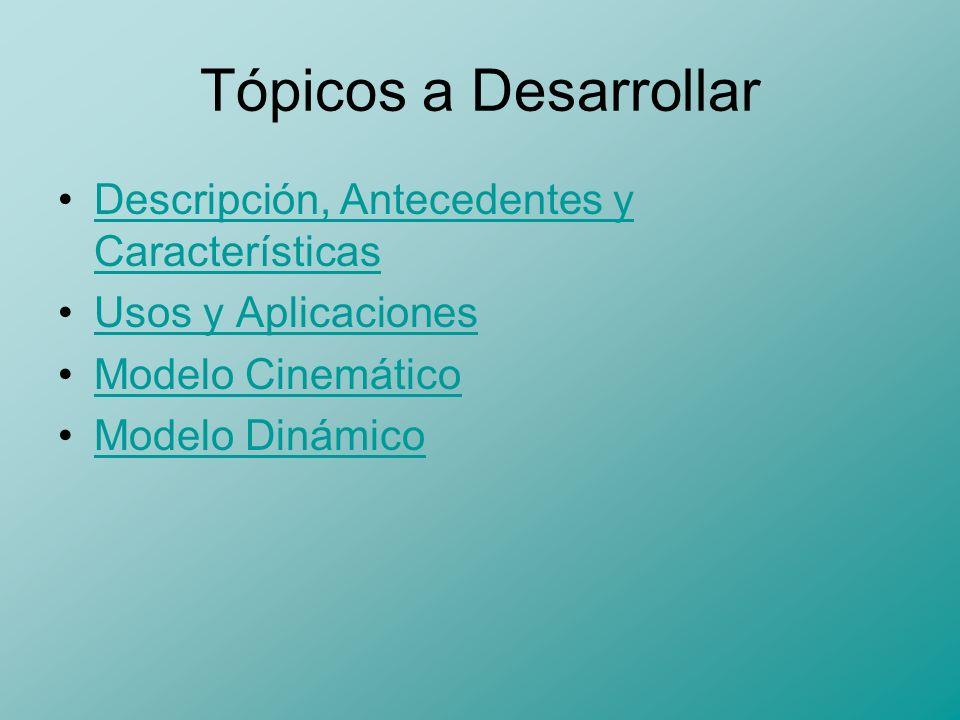 Tópicos a Desarrollar Descripción, Antecedentes y Características