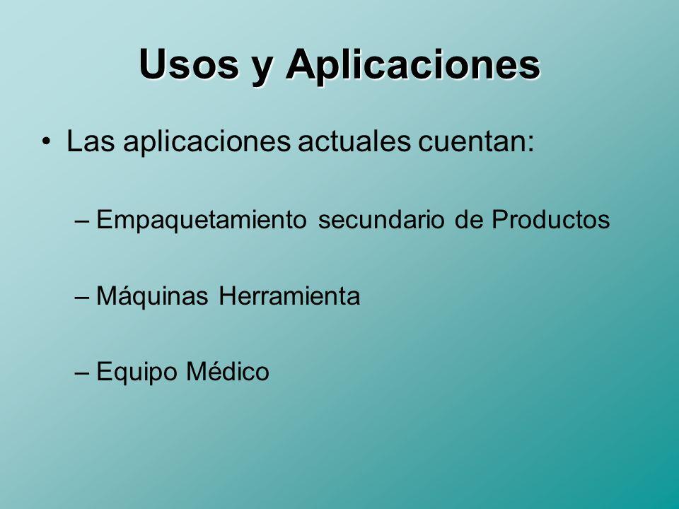Usos y Aplicaciones Las aplicaciones actuales cuentan: