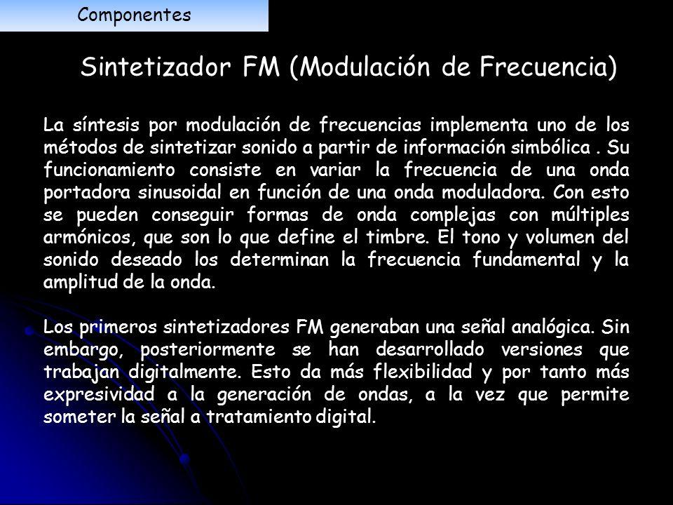 Sintetizador FM (Modulación de Frecuencia)