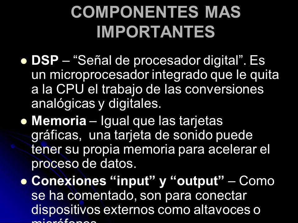 COMPONENTES MAS IMPORTANTES