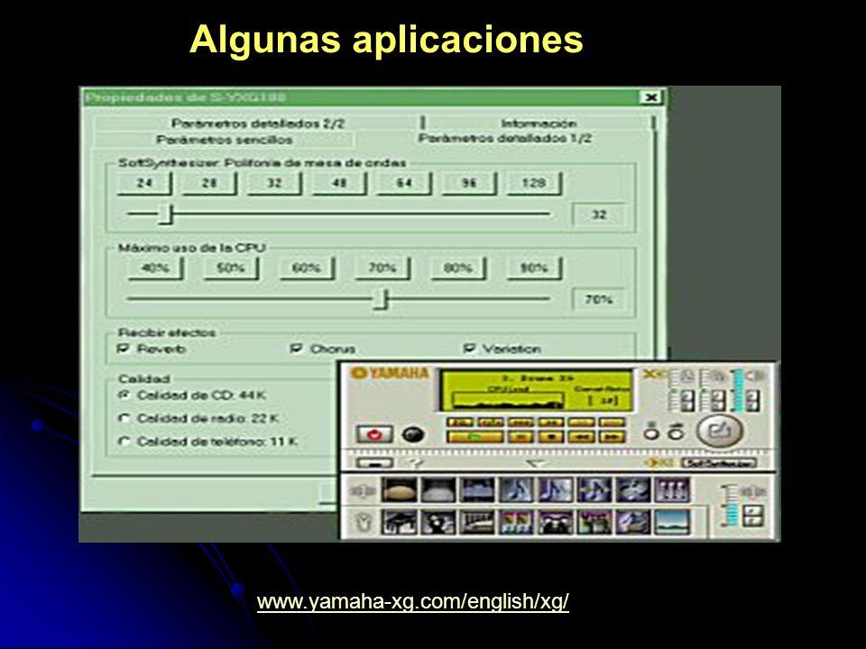 Algunas aplicaciones www.yamaha-xg.com/english/xg/
