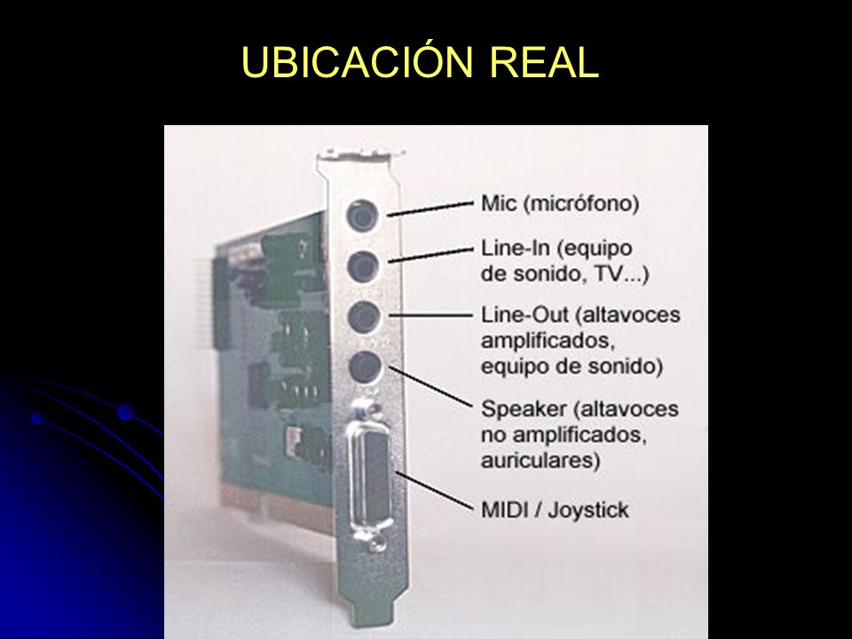 UBICACIÓN REAL