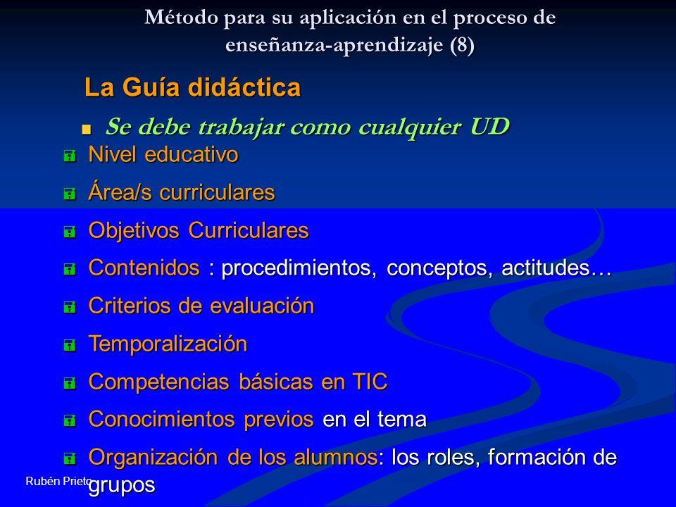 Método para su aplicación en el proceso de enseñanza-aprendizaje (8)