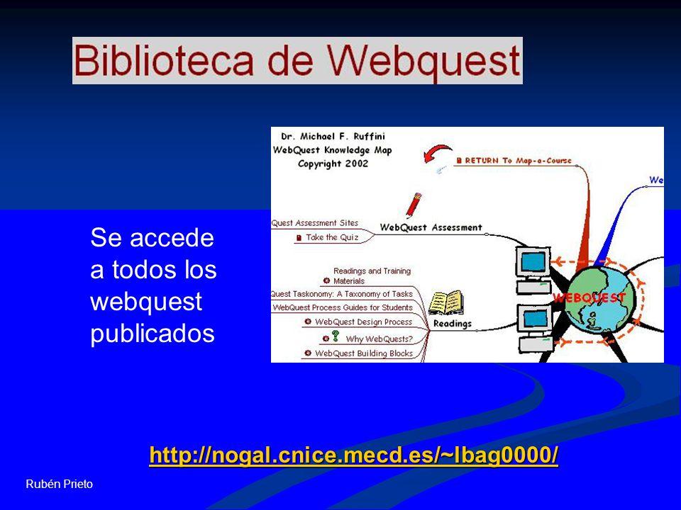 Se accede a todos los webquest publicados