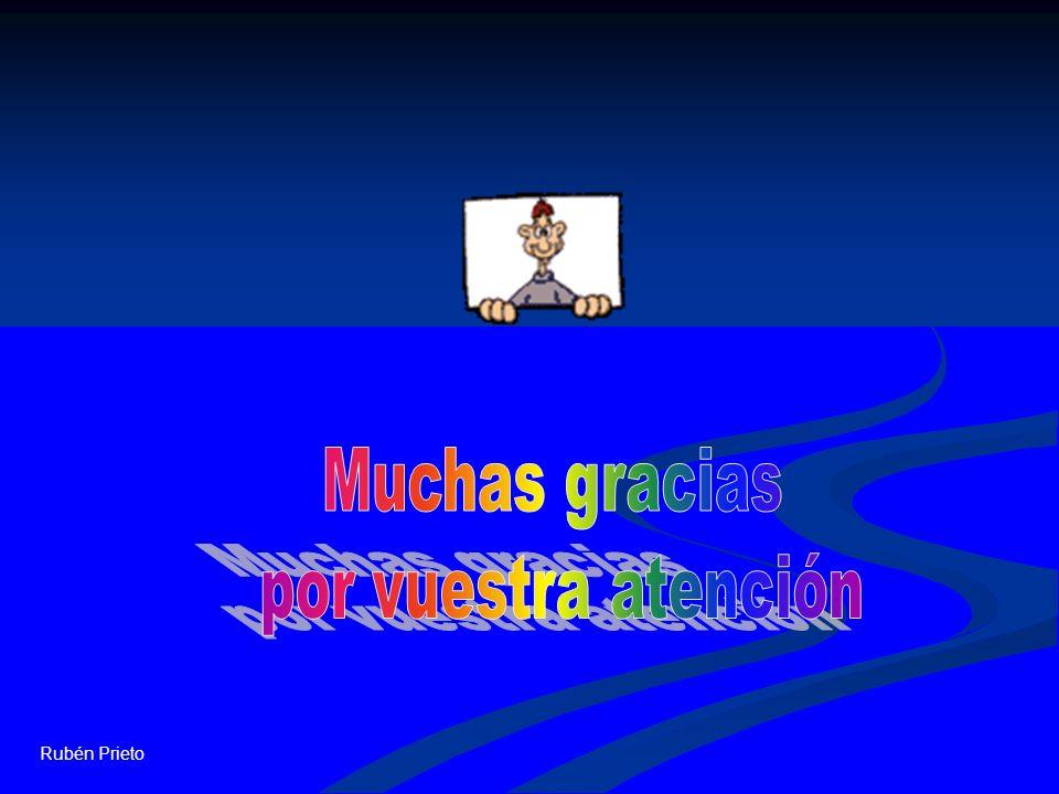 Muchas gracias por vuestra atención Rubén Prieto