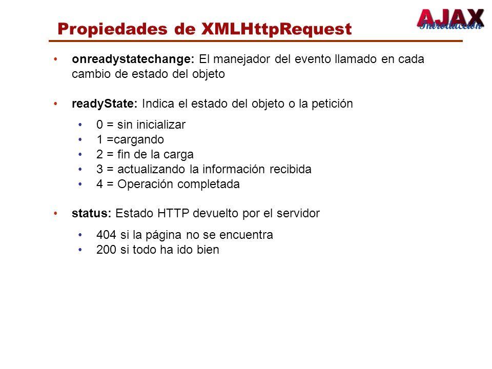 Propiedades de XMLHttpRequest