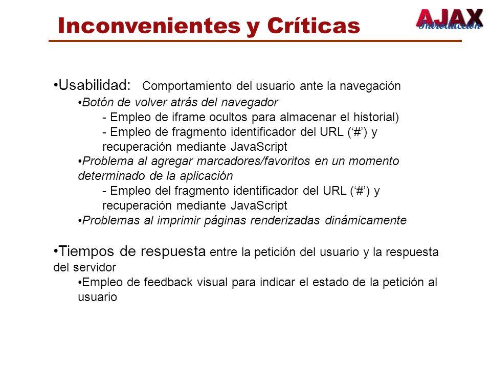 Inconvenientes y Críticas