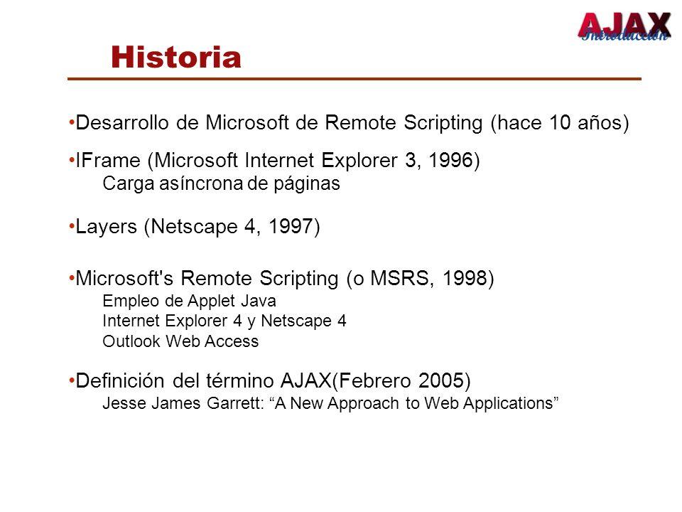 Historia Desarrollo de Microsoft de Remote Scripting (hace 10 años)