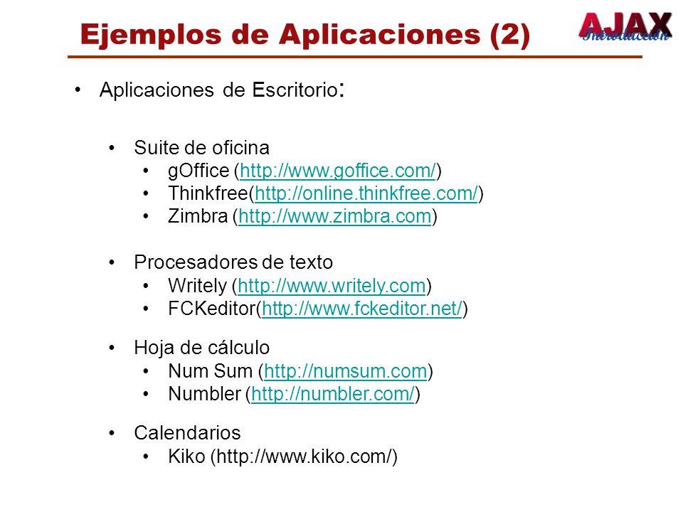 Ejemplos de Aplicaciones (2)