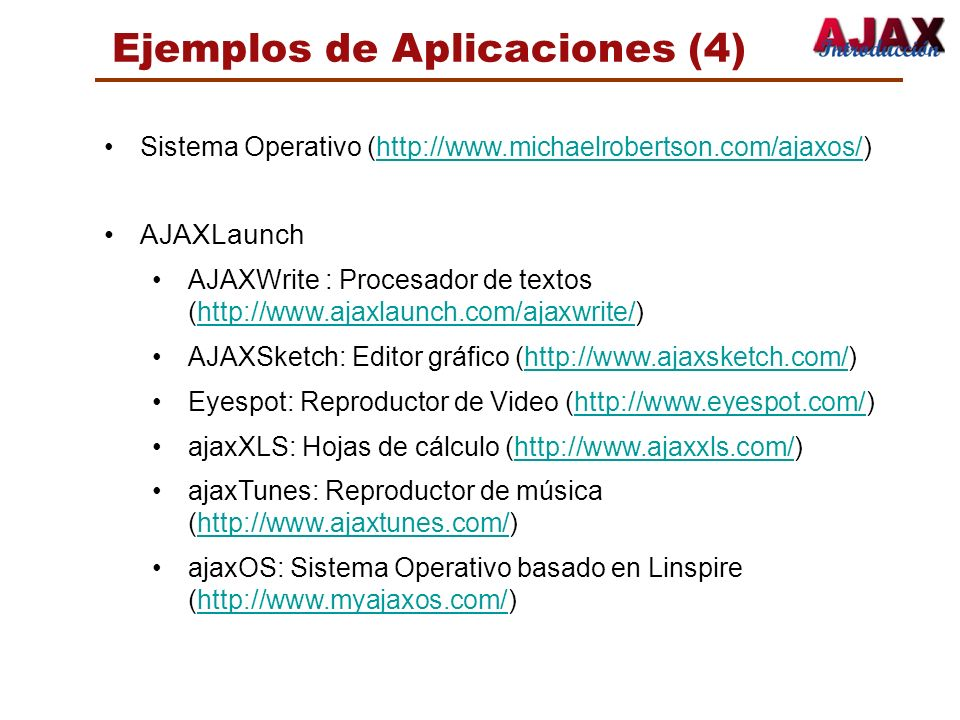 Ejemplos de Aplicaciones (4)