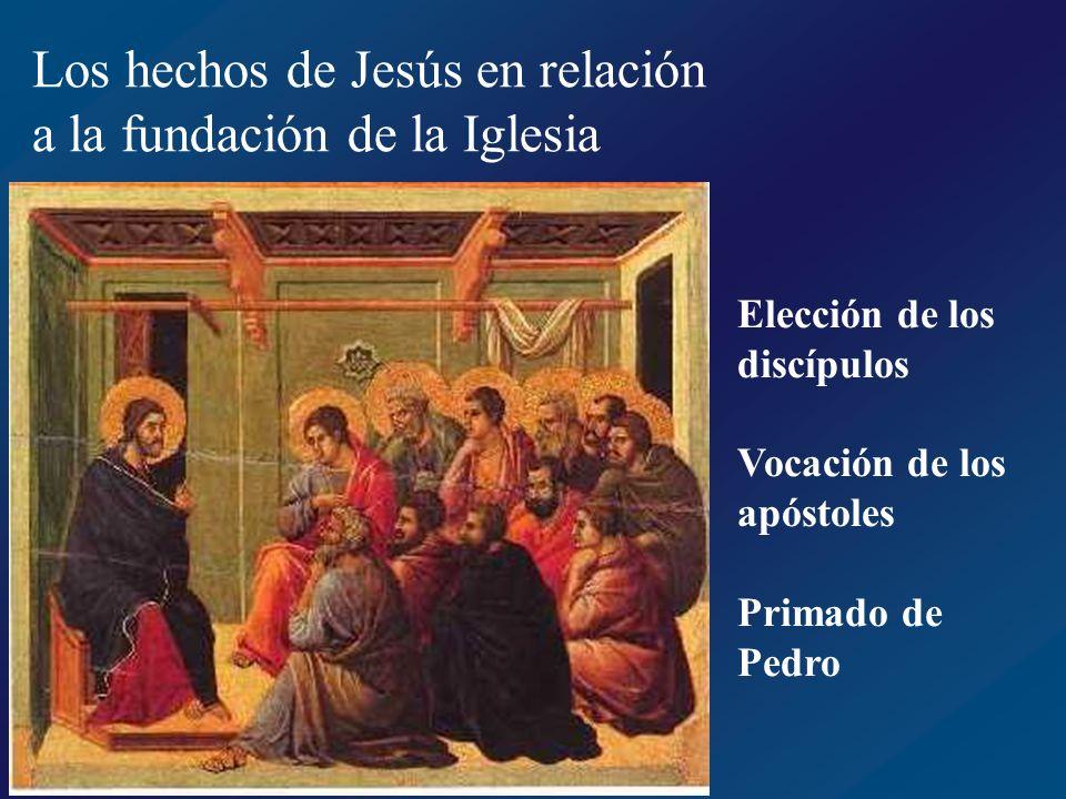 Los hechos de Jesús en relación a la fundación de la Iglesia