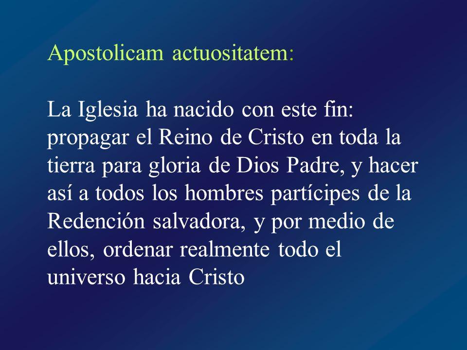 Apostolicam actuositatem: