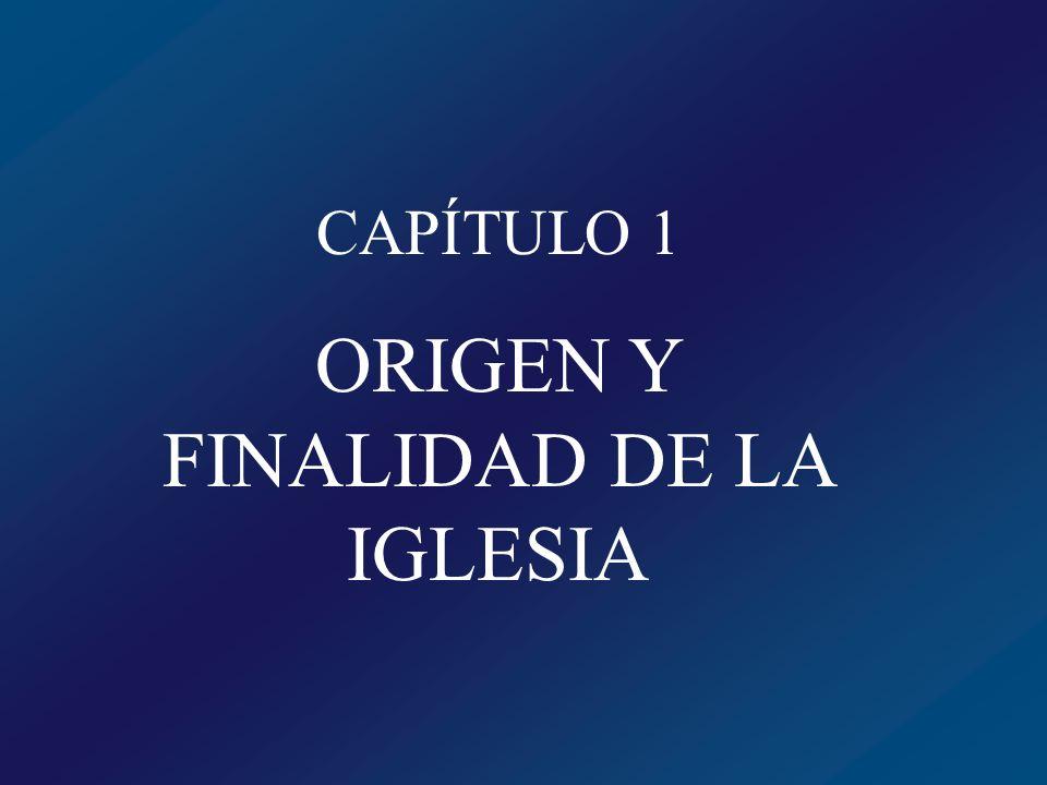 ORIGEN Y FINALIDAD DE LA IGLESIA